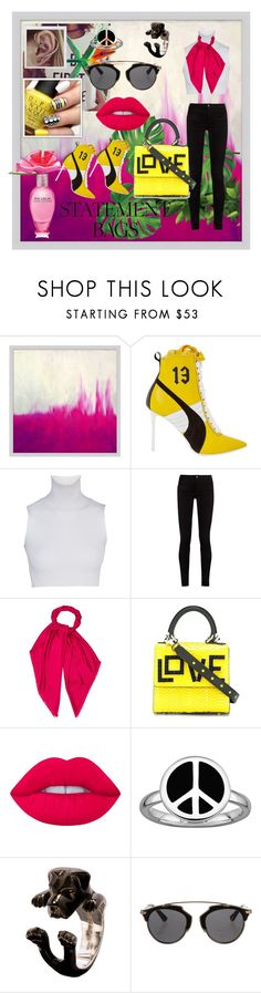 """""""Bright And Bold"""" by vanyaraina on Polyvore featuring Pottery Barn, Marc Jacobs, Puma, Gucci, Louis Vuitton, Les Petits Joueurs, Lime Crime, Stacks and Stones, Dog Fever and Christian Dior"""
