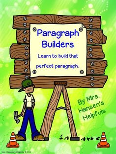 Love helping students learn how to write paragraphs with this unit.   https://www.teacherspayteachers.com/Product/Paragraph-Builders-1420844