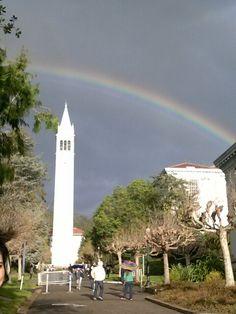 Brightest Rainbow in San Fransisco! March 1st,2014. Cal, Berkeley. #CALBERKELEYBEARS
