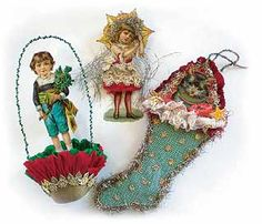 Victorian Christmas Ornaments Happy New Year Victorian Christmas Decorations, Antique Christmas Ornaments, Old Christmas, Old Fashioned Christmas, Vintage Ornaments, Christmas Items, Handmade Christmas, Paper Ornaments, Outdoor Christmas