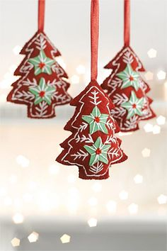 Christmas - Felt Tree Ornament Set