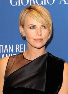 Short hair inspiration! Charlize Theron