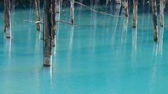Lieu magique, presque irréel, ce lac bleu situé sur l'île japonaise d'Hokkaido a été immortalisé par le photographe spécialisé dans la photo de paysage, Ke