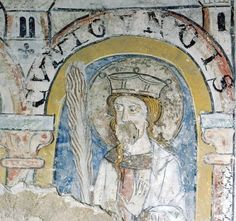 2.V.13.Jh., Huysburg: Detail der Wandmalerei. Darstellung der heiligen Kunigunde.