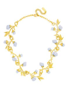 Olivia Palermo Guest Bartender Collection. Twisting vines with periwinkle rosettes are fairytale precious in this vintage-inspired necklace.
