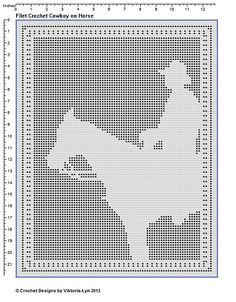 Filet Crochet Patterns Other Animals Horse Filet