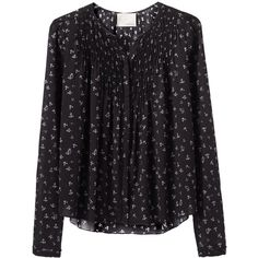 Girl by Band of Outsiders Floral Pintuck Shirt ($285) ❤ liked on Polyvore