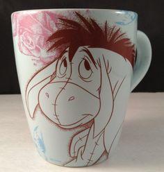 New Eeyore #Disney Coffee Mug 16 oz Blue Roses Butterflies