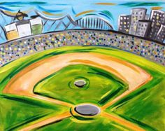 Slugger Field Baseball lovers will enjoy painting this Baseball field picture! Get a head start on the Spring season and show your pride in America's favorite pastime.