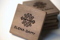 Logo on creative wooden business card #logo #businesscard