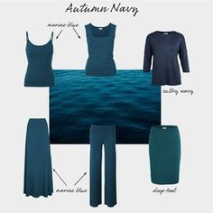 Autumns look great in pretty much every single shade of teal, and your best navy. Autumn Look, Dark Autumn, Soft Autumn Deep, Fall Looks, Autumn Style, Fall Winter, Fashion Colours, Colorful Fashion, Deep Autumn Color Palette