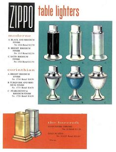 Zippo Table Lighter Advertisement