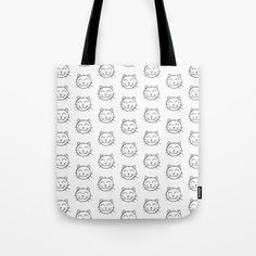 Buy Cat Tote Bag by chaploart. Worldwide shipping available at Society6.com. Just one of millions of high quality products available.