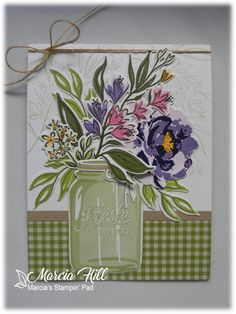 Just a fun little post sharing some cards I've made using my new goodies from The Greetery . It was suggested when I p. Mason Jar Cards, Mason Jars, Easter Crafts For Kids, Bunny Crafts, Postcard Art, Vintage Greeting Cards, Vintage Postcards, Love Stamps, Stamping Up Cards