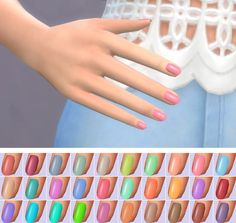 Veranka: Trendy Nail Polishes 2.0 • Sims 4 Downloads