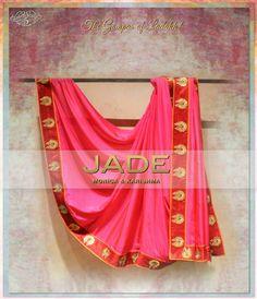 The Classic JADE Sari in shades of Pink inspired from the 'Gompas of Ladakh' #jadebyMK #jade_byMK #jade #fuchsia