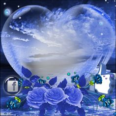 blue rose and heart Night Pictures, Heart Pictures, Birthday Wishes, Birthday Cake, Find Friends, Good Morning Good Night, Jesus Is Lord, No Time For Me, Birthdays