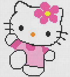 Minnie Mouse perler bead pattern - Crochet / knit / stitch charts and graphs Cross Stitch Baby, Cross Stitch Charts, Cross Stitch Designs, Cross Stitch Patterns, Pixel Crochet, Crochet Chart, Knitting Charts, Baby Knitting, Loom Patterns