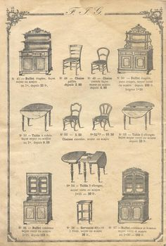genin meubles - pillpat has scans of all the pages of this catalog, furn etc Classic Furniture, Furniture Styles, Vintage Furniture, My Furniture, Furniture Design, Vintage Books, Vintage World Maps, Antique Interior, Victorian Design