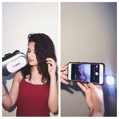 These awesome products from @finggtouch 😍❤ This selfie flashlight is a must need..!! Keeps my selfies bright in the dark 😉 And this awesome Virtual Reality box..!! It feels so amazing to watch videos on it..!