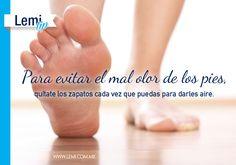 #Tip para evitar el mal #olor de los #pies.  http://lemi.com.mx #salud #bienestar