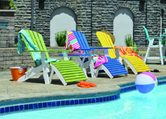 Custom outdoor poly furniture by American Structures and Patio