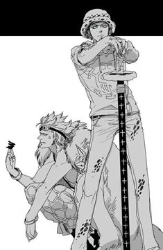 Eustass Kid and Trafalgar D. One Piece Ship, One Piece 1, One Piece Images, One Piece Pictures, Manga Anime, Manga Art, One Piece Anime, Zoro, Blade Runner