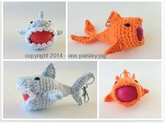 Lip balm cozy Crochet Pattern - Sharky & The Killer Koi for eos Lip Balm