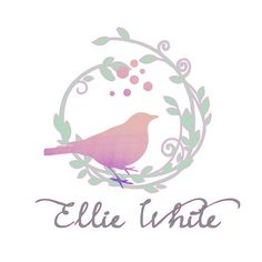 Custom Logo design, vector wreath and bird Logo and watermark, watercolor Business Logo, graphic design, logo design, bird logo