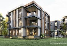 Condo Design, Villa Design, Facade Design, Exterior Design, House Design, Apartment Projects, Luxury Condo, Facade Architecture, Townhouse