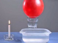 Levantar un vaso con un globo. Experimentos para niños: