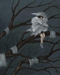 """""""The Six Swans"""" by Tangmo Cecchini on INPRNT #Surrealism #art Surréalisme #arte…"""