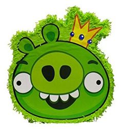 He may be king of the pigs, but this green piggy is in for a surprise when Angry Birds fans get a hold of him! Hang this Angry Birds Green Pig piñ. Angry Birds, Pinata Party, Halloween Accessories, Oriental Trading, It's Your Birthday, Birthday Ideas, Party Planning, Party Supplies, Diy Crafts