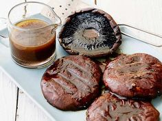 Get Grilled Portobello Mushrooms with Balsamic Recipe from Food Network