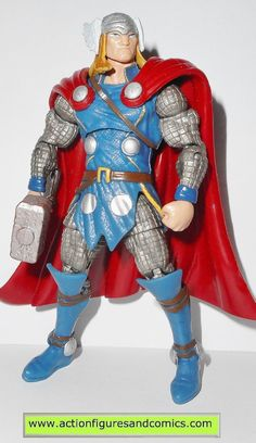 Hasbro toys action figures for sale to buy MARVEL UNIVERSE 2011 dollar general exclusive, THOR (blue armor) 100% COMPLETE condition: Excellent. nice paint, nice joints. nothing broken, damaged, or mis
