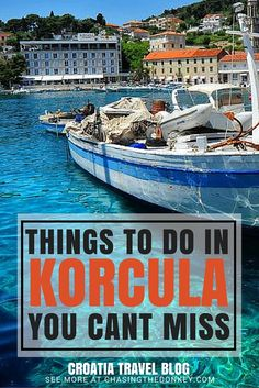 Korcula Island (pronounced KOR-chu-la), also known as the Emerald Isle, is one of Croatia's many islands and here is a list of things to do in Korcula that you simply cant miss. Click to find them all..