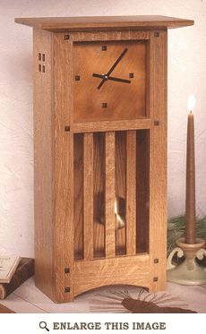 Arts and Crafts Mission Mantle Clock Woodworking Plan, Home Project Plan | WOOD Store
