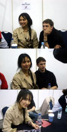 More of Tom and Linda Park at the London Expo (2005).