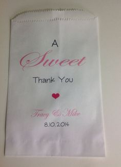 Custom Candy Buffet Favor Bags by SweetLoveCandy on Etsy, $25.00