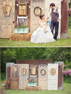Cute! I love the old doors as a backdrop for  photos