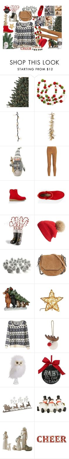 """""""Trimming The Tree"""" by maggiecakes ❤ liked on Polyvore featuring Dot & Bo, Thos. Baker, Northlight Homestore, Vince, UGG Australia, Linda Richards, rag & bone and Sage & Co."""
