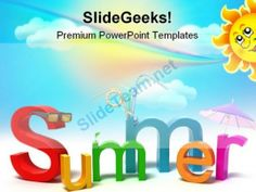 summer holidays powerpoint templates and powerpoint backgrounds 0611 powerpoint templates themes background