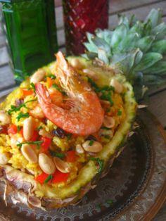 delilicias: Abacaxi recheado com arroz frito - Receita tailand...
