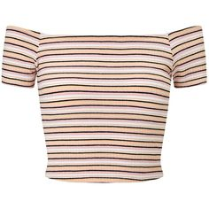 Miss Selfridge Petites Multi Stripe Top , Pink ($24) ❤ liked on Polyvore featuring tops, crop tops, shirts, blusas, pink, petite, striped shirt, pink crop top, pink shirts and short sleeve shirts