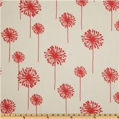 Premier Prints Indoor/Outdoor Dandelion White/American Red  Item Number: UK-059  cold wash, air dry    Our Price: $8.98 per Yard
