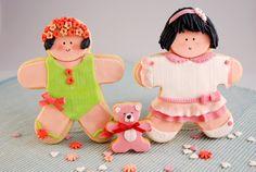 galleta decorada con fondant niña 6