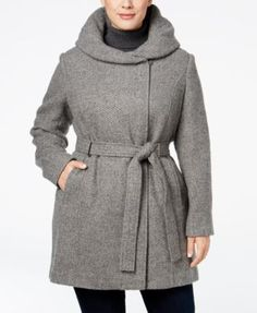 Calvin Klein Plus Size Hooded Walker Coat $167.99 Surround yourself with the soft warmth of this hooded walker coat from Calvin Klein.
