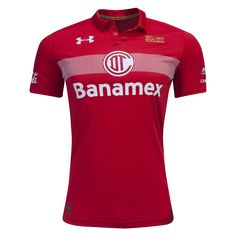 Toluca 16/17 Home Soccer Jersey - Liga MX/Liga BBVA Bancomer - Kits & Apparel of the Mexican Football League. Available now at WorldSoccershop.com | #LigaMX #Soccer #Mexico #jersey