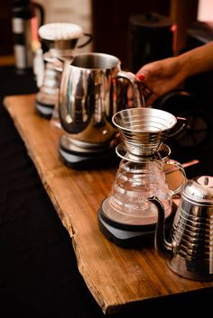 Vigilante Coffee Station setup during dessert. Photograph by Alex Friendly Photography Cigar Bar, Crafts Beautiful, Coffee Company, V60 Coffee, Best Coffee, Washington Dc, Catering, Reception