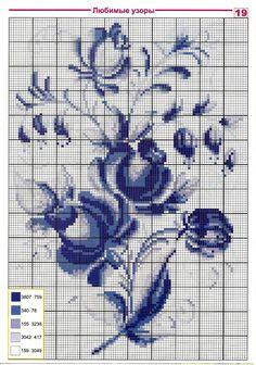 Схемы вышивки в одной цветовой гамме 0 Cross Stitch Rose, Cross Stitch Flowers, Cross Stitch Charts, Cross Stitch Designs, Cross Stitch Patterns, Loom Patterns, Cross Stitching, Cross Stitch Embroidery, Embroidery Patterns